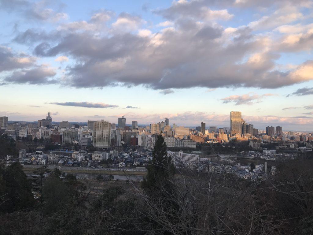 青葉城跡からの景色